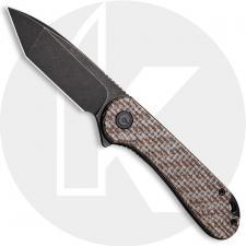 CIVIVI Elementum C907T-D - Black Stonewash D2 Tanto - Brown Matrix Micarta - Liner Lock - Flipper Folder