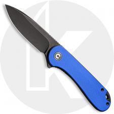 CIVIVI Elementum C907X - Black Stonewash D2 - Blue G10 - Liner Lock - Flipper Folder