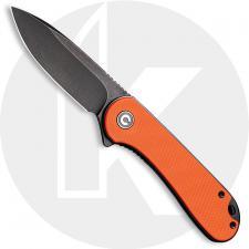 CIVIVI Elementum C907Y - Black Stonewash D2 - Orange G10 - Liner Lock - Flipper Folder