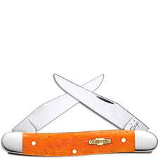 Case Muskrat Knife, Smooth Persimmon Orange Bone, CA-10317
