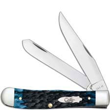 Case Trapper Knife 10880 Blue Denim Bone 6254SS