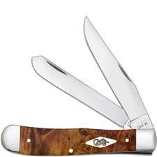Case Trapper Knife 11540 Autumn Maple Burl 7254SS