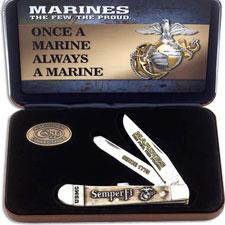 Case USMC Trapper Knife Set, CA-13183