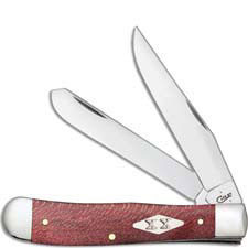Case Trapper Knife 17140 Smooth Red Sycamore 7254SS