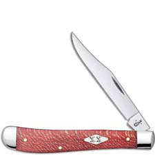 Case Slimline Trapper Knife 17145 Smooth Red Sycamore 71048SS