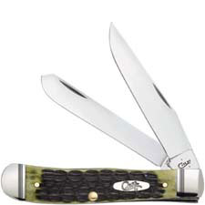 Case Trapper Knife 22541 Olive Green Bone 6254SS