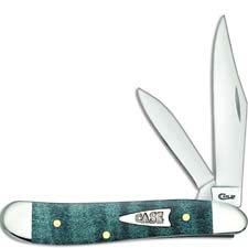 Case Peanut Knife 23363 Turquoise Curly Maple 7220SS