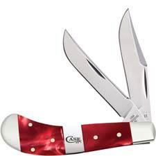 Case Saddlehorn Knife 25274 Red Pearl Kirinite TB102110SS