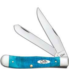 Case Trapper Knife 25592 Caribbean Blue Bone 6254SS
