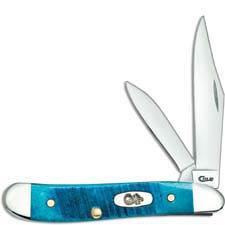 Case Peanut Knife 25596 Caribbean Blue Bone 6220SS