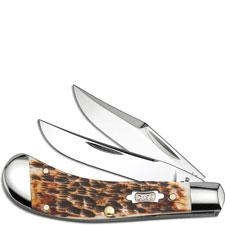Case Saddlehorn Knife, Burnt Amber Half Stop, CA-27644