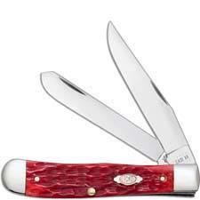 Case Trapper with Clip 31957 Dark Red Bone CV 6254CCV