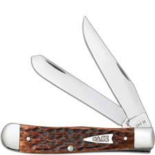 Case Trapper Knife 42650 Brown Bone 6254SS