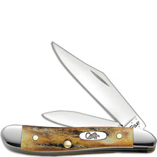 Case Peanut Knife, Genuine Stag, CA-48