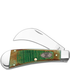 Case Hawkbill Pruner 51581 Knife Burnt Clover Bone 61011SS