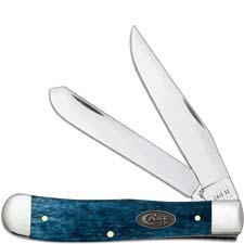 Case Trapper Knife 52800 Smooth Mediterranean Blue Bone 6254SS
