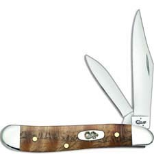 Case Peanut Knife 53303 Natural Curly Oak 7220SS