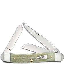 Case 55401 Medium Stockman Knife Mint Green Bone 6318SS