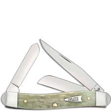 Case 55401 Medium Stockman Knife Mint Green Bone 6318SS