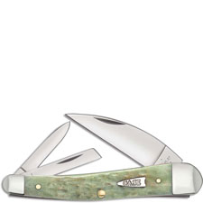 Case 55403 Seahorse Whittler Knife Mint Green Bone 6355WHSS