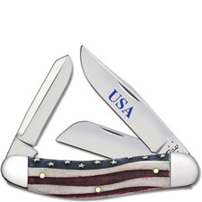 Case Sowbelly 64134 Star Spangled Patriotic Smooth Natural Bone TB6339SS