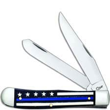 Case Trapper Knife 06567 Blue Line Stripes of Service 6254SS