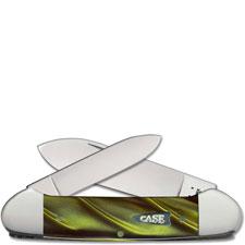 Case Canoe 68876 Knife Green Smoke Kirinite 102131SS