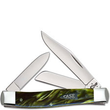 Case Medium Stockman 68877 Knife Green Smoke Kirinite 103032SS