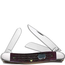 Case Medium Stockman 70089 Knife Cabernet Bone 6318SS