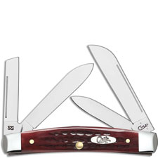 Case Medium Congress 00789 Knife Pocket Worn Old Red Bone 64052SS