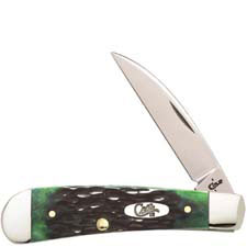 Case Sway Back Knife 87086 Hunter Green Bone TB61117SS