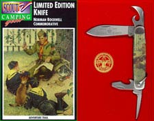 Camillus BSA Norman Rockwell Commemorative Camp Knife BSA831 - Adventure Trail - 2001 - DISCONTINUED ITEM - OLD NEW STOCK - BNIB