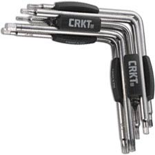 CRKT Twist and Fix Torx and Hex Tool 9901 Stainless Steel 5 Torx and 5 Hex Drivers with Black Snap In Holders