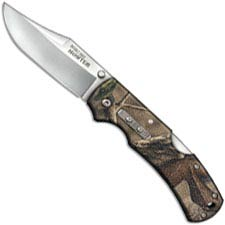Cold Steel Double Safe Hunter 23JD - Value Priced Folding Hunter - Satin Clip Point - Camo GFN - Rocker Lock