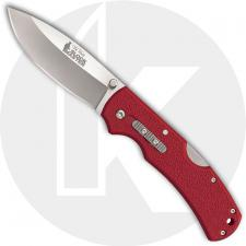 Cold Steel Double Safe Hunter Slock Master 23JK - Value Priced EDC - Drop Point with Slock Master Logo - Red GFN - Rocker Lock -