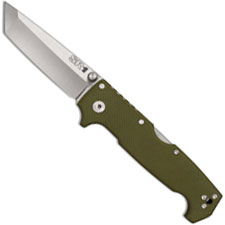 Cold Steel 62LA SR1 Knife Andrew Demko Tanto Tri-Ad Lock Folder OD G10