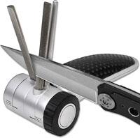 DMT DIAMOND-Vee Adjustable Diamond Knife Sharpener for Straight, Serrated and Curved Edges 20004