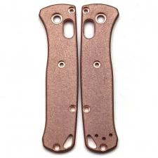 Flytanium Custom Copper Scales for Benchmade Mini Bugout Knife - Antique Stonewash Finish