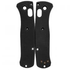 Flytanium Custom G10 Scales for Benchmade Mini Bugout Knife - Black