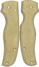 Flytanium Custom Brass Scales for Spyderco Shaman Knife - Antique Stonewash Finish