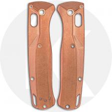 Flytanium Custom Copper Crossfade Scales for Benchmade Bugout Knife - Stonewash