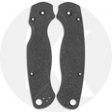 Flytanium Custom Shred Carbon Fiber Lotus Scales for Spyderco Paramilitary 2 G10 Knife