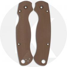 Flytanium Custom G10 Lotus Scales for Spyderco Paramilitary 2 G10 Knife - Earth Brown