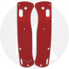 Flytanium Custom G10 Crossfade Scales for Benchmade Bugout Knife - Red