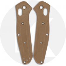 Flytanium Custom G10 Scales for Benchmade Mini Osborne Knife - Earth Brown