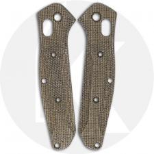 Flytanium Custom Micarta Scales for Benchmade Mini Osborne Knife - Green Canvas