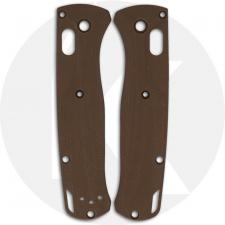 Flytanium Custom G10 Crossfade Scales for Benchmade Bugout Knife - Earth Brown