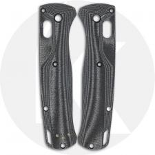 Flytanium Custom Micarta Crossfade Scales for Benchmade Bugout Knife - Black Linen