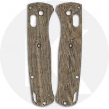 Flytanium Custom Micarta Crossfade Scales for Benchmade Bugout Knife - Green Canvas