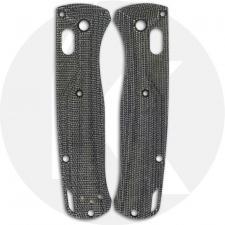 Flytanium Custom Micarta Crossfade Scales for Benchmade Bugout Knife - Black Canvas